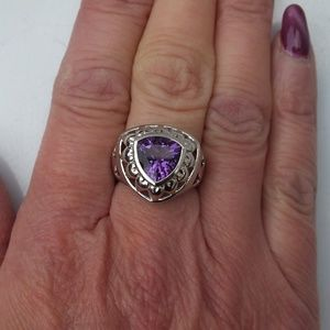 Jewelry - Beautiful Amethyst Sterling Silver Statement Ring